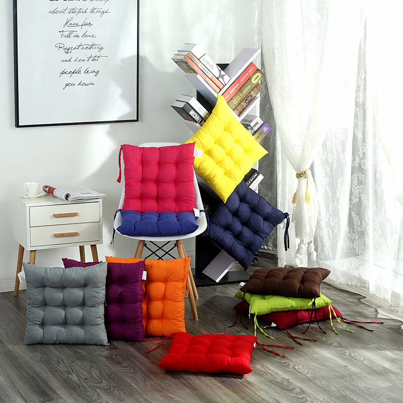 High quality microfibre solid home car office chair sofa seatpad cushion