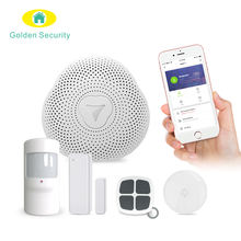 Tuya Smart Life App control WiFi gateway for smart home automation system and home security alarm system