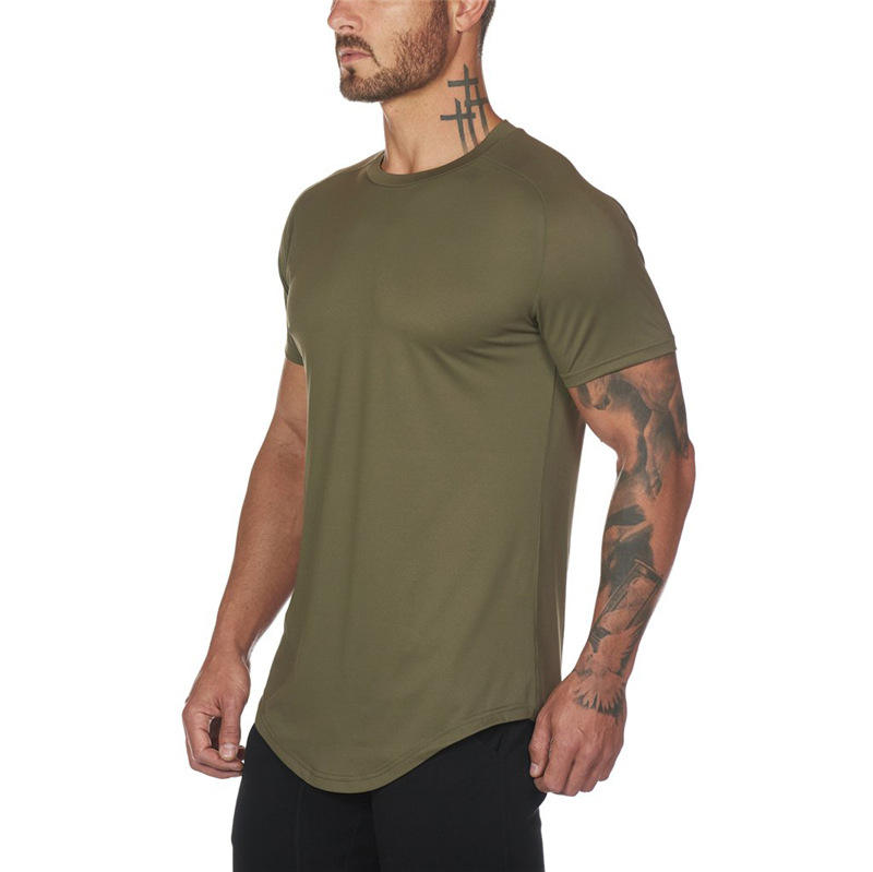 Custom logo Fitness gym Bodybuilding Breathable Summer Singlets Slim Fitted Men's Muscle short sleeve tank top t shirts