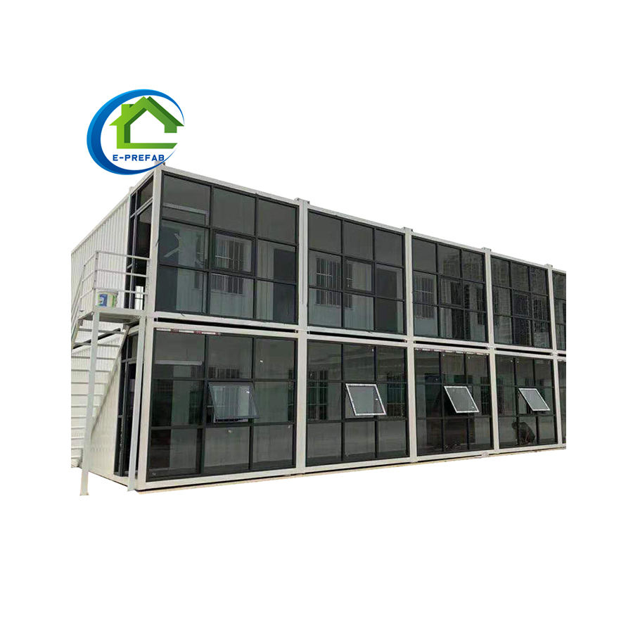 The double-storey Container House and used as an office or a dormitory with various functions