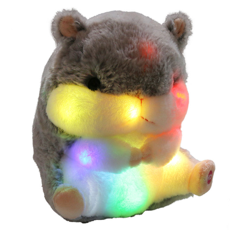 Hamster [ Animal Mouse ] Kids And Stuffed Animals Light Up Hamster Stuffed Animal Glow Mouse Hamster Plush Toy LED Night Bedtime Companion Gift For Toddlers Kids