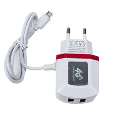 Smart 4G usb mobile phone charger custom logo screen light home travel adapter IOS TYPE-C V8 android with cable US EU