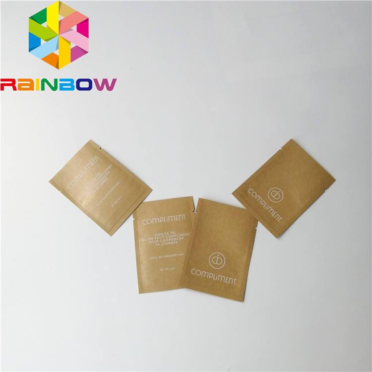 Custom Logo Heat Seal Laminated Foil Three Side Heat Seal Flat Pouch Cosmetic Samples Packaging Smell Proof Sachet Bags