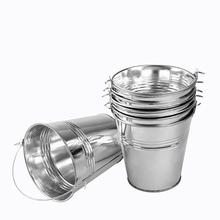 Round Galvanized Steel Mini Metal Bucket with lid