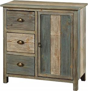 Vintage Rustic Look Industrial Commercial High Quality Storage area 3 Drawers & 1 Door Low Price Wooden Cabinet