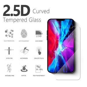 New 2.5D Clear Screen protector Tempered Glass Film for Apple iPhone 12 tempered glass