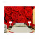 Custom 3D Romantic Elegant Natural Red Rose Peony Flower Mural Wallpaper