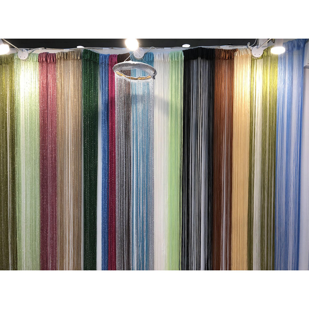 Home decoration door novelty thread spaghetti cheap string curtain for wedding