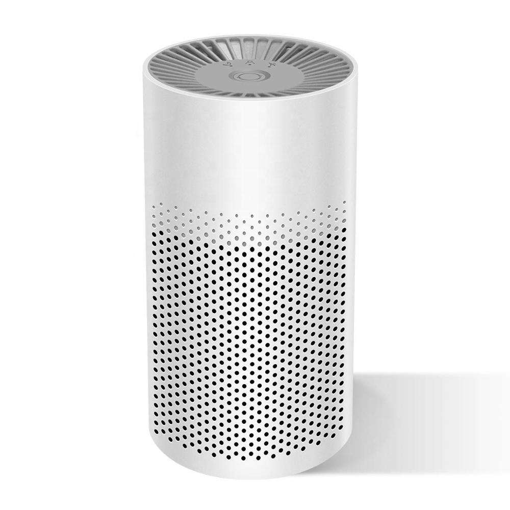 Mini Portable Air Purifier for Home Bedroom Office Desktop Pet Room Air Cleaner for Car with Filters Energy Conservation and Sil