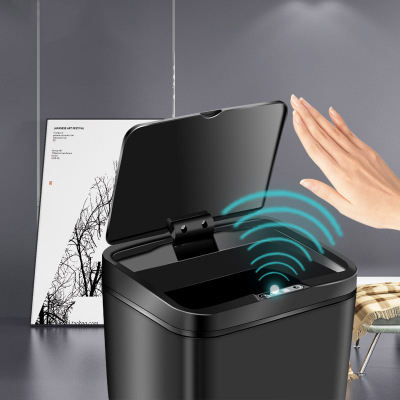 Kitchen garbage bins smart sensor automatic open bedroom rubbish trash cans