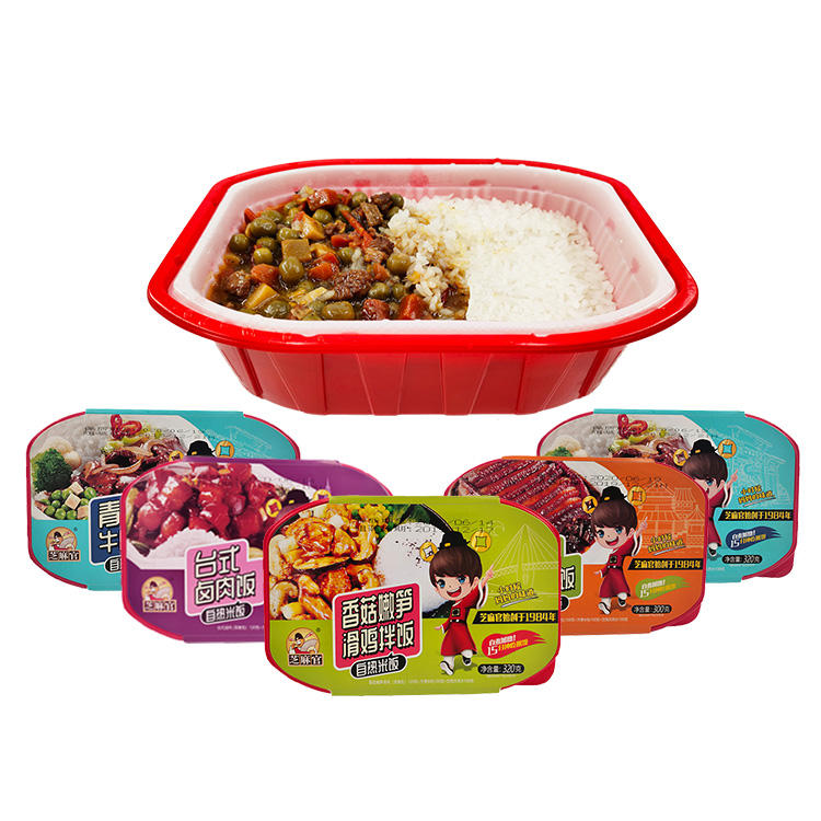 320g Hot Sale Instant Rice Dishes Konjac Rice Instant Cooking Happy Meal Selfheating Rice Meat Meal