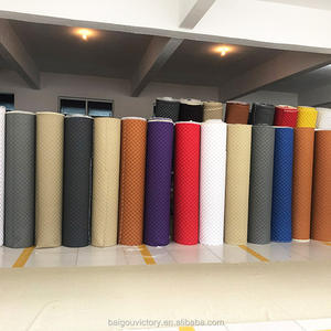Hot Sale Embroidery Quilted Diamond Stitching laser Leather For Car Carpet Mats Making