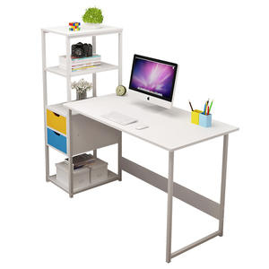Modern white Laptop Computer Table stand Cheap scrivania Study Writing work Desk home office desk with hutch
