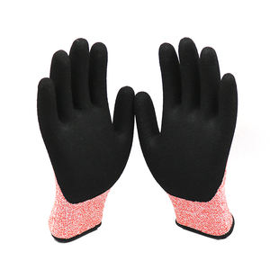 Professional Fisherman HPPE Anti-Cut Gloves Cutting Prevention Gloves Nitrile Piercing Resistant Dip Gloves For Catching Fish