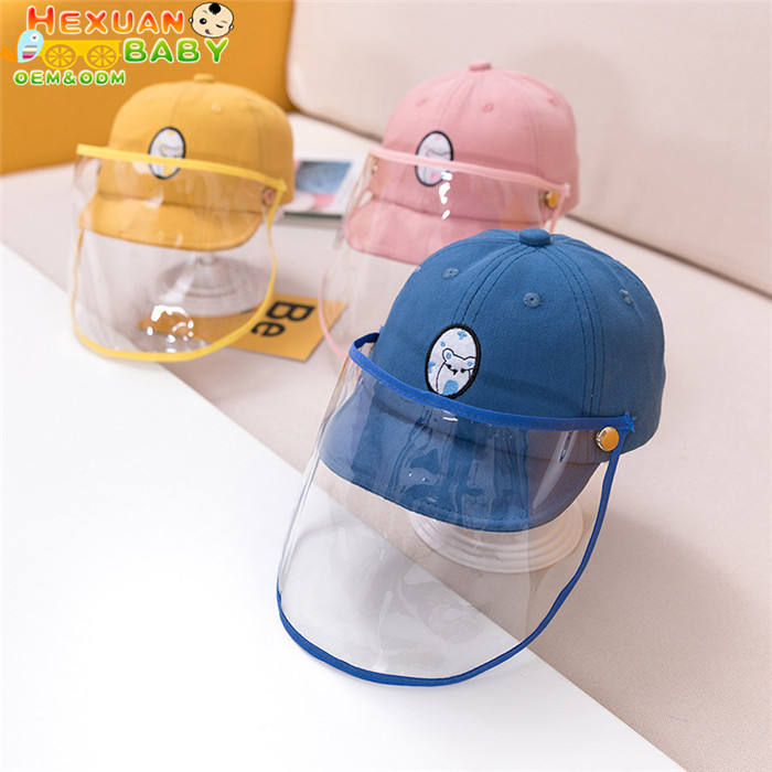 Children Protect Cap Hats Anti-flu Mask Hat Teens flu face eyes Protection Baseball Cap Kids Anti-droplet Face Hat
