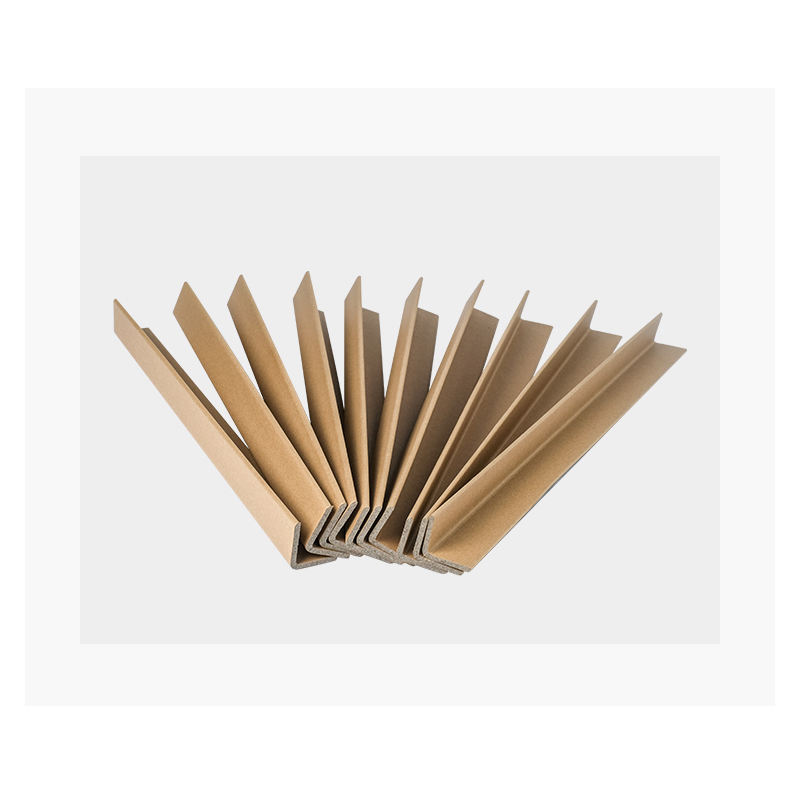 Recycled eco-friendly shapeL brown and white cardboard corner strong edge board sheet paper protector