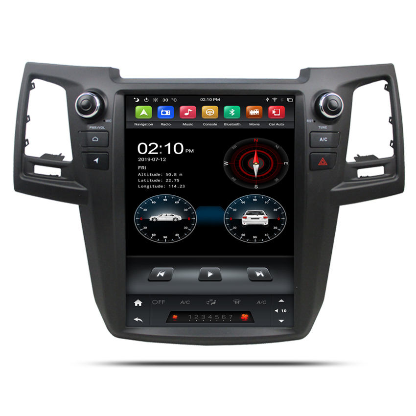 KANOR Tesla style 12.1inch Screen Android 9.0 4GB Car DVD Player GPS Navigation For Toyota Fortuner 2004-2016 Stereo Head Unit