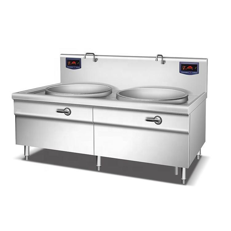 Отличное качество профессиональное two вок станции один индукционная плита