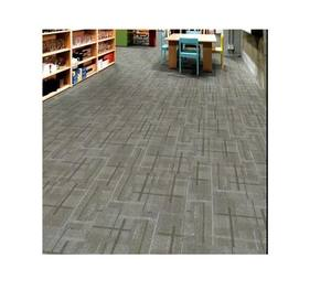 Commercial Usage Office hotel Decorative pattern 50x50 PVC Floor 100% pp Carpet Tile