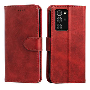 Luxury Calf Skin Leather Magnet Flip Cover Wallet Phone Case For Samsung Note 20 With 3 Card Holder