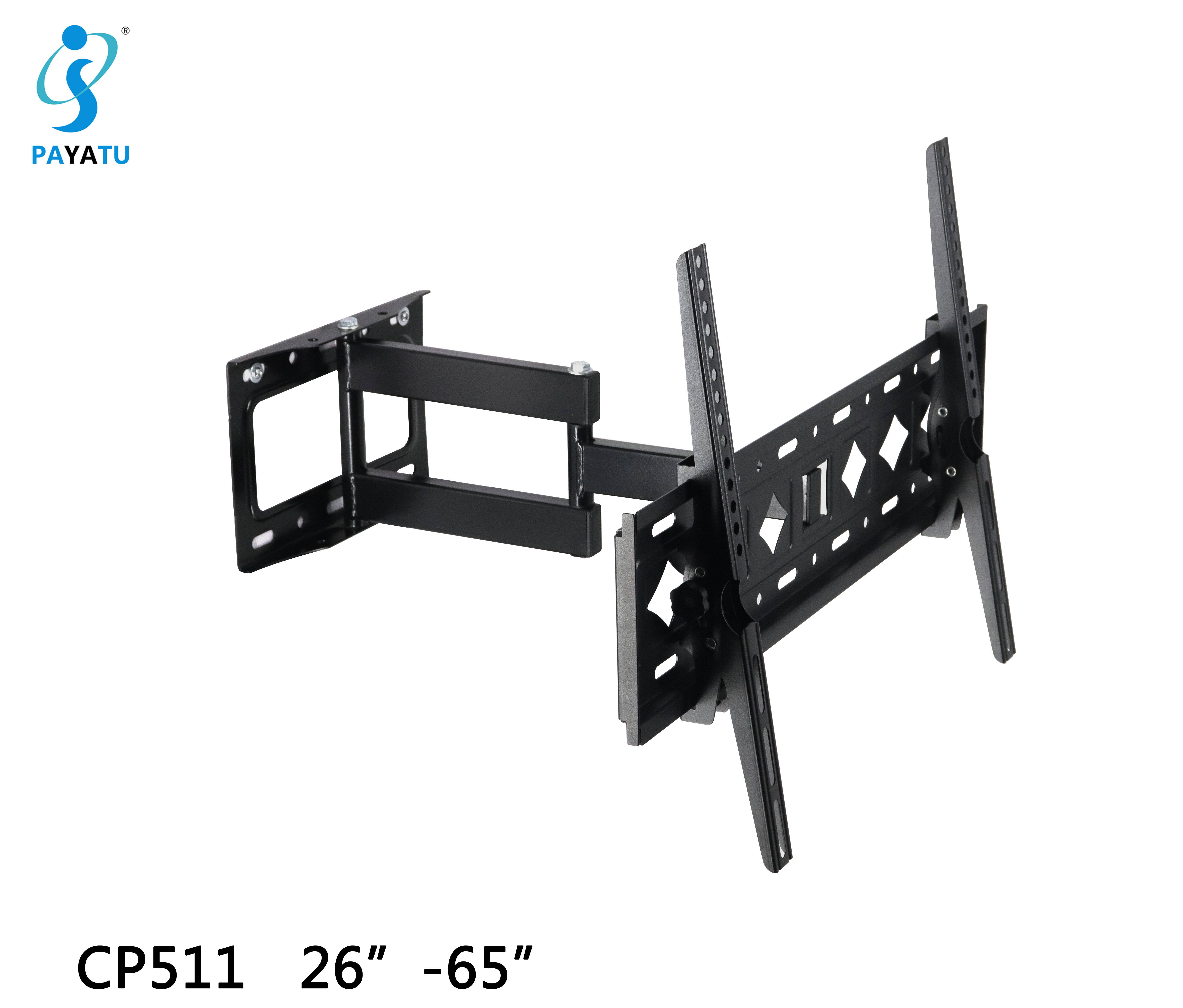Universal black tv shelf wall mount fixed bracket for dvd