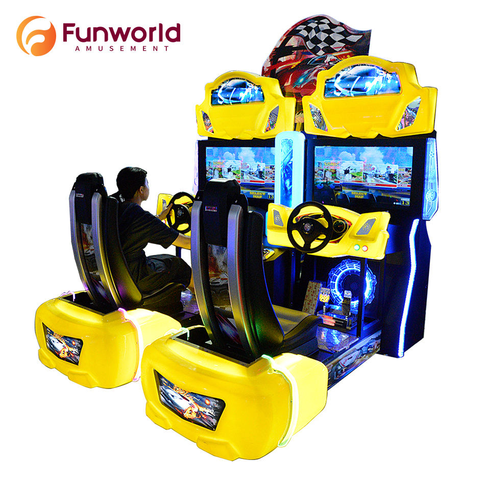 OEM Custom Shaped Coin Operated Car Gaming Chair Simulator Arcade Racing Machine