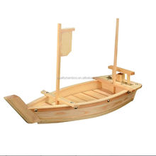 Eco-friendly reusable insect-resistant wooden bamboo sushi boat customized packaging