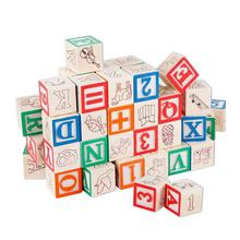 Wholesale New Kids Wooden Alphabet Building Blocks AT12100