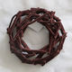 Best Selling High Quality Branch Twig Decoration Flocking Brown Rattan Wreath
