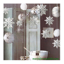 Holiday Home Decor Indoor 3D Hanging Snowflake Decorations for Christmas Tree