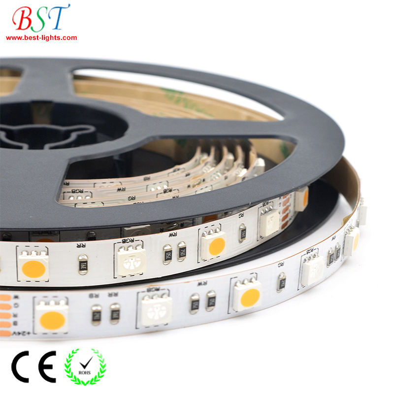 5050 RGB LED strip light 60 LEDs/M RGB + White, RGB + Warm White, RGB + CCT LED tape lights for home decoration