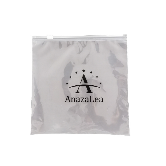 Wholesale Zip Lock Double-Sided Frosted Garment Bag Towel T-Shirt Clothes Zipper Bags With Warnings