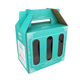 Zhuoyida Corrugated Cardboard Packaging 3 Pack Bottle Craft Beer Wine Carrier Gable Handle Box