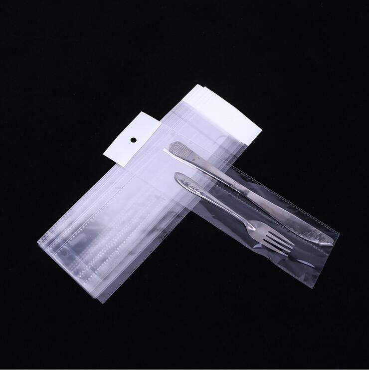 cello bag PP christmas food grade clear self adhesive custom printed cellophane bag with header