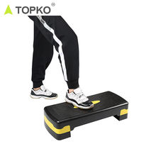 TOPKO Hot selling suitable gym yoga exercise aerobics trainer useful PP aerobic step
