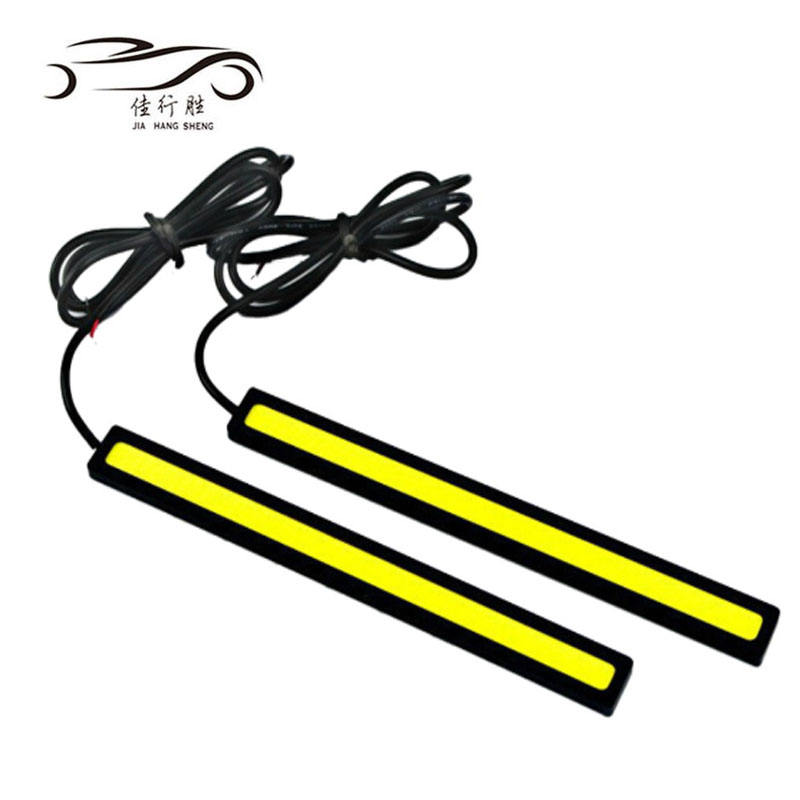 Waterproof COB DRL 17cm Car Light Styling COB LED Daytime Running Light 12 Volts