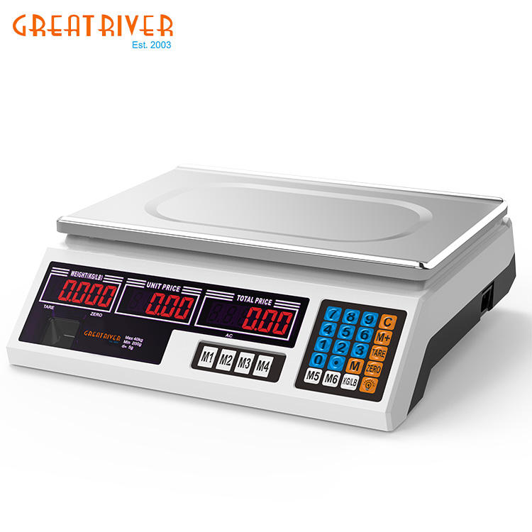 Price Peru 30/40kg/5g Electronic Price Computing Scale Hanging Scale Weighing Scale Digital Kata