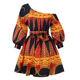 Amazon Supplier OMJ African kitenge dress designs print clothing Women casual evening plus size Sexy party Dresses
