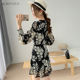 One-piece Dress 2019 Summer Custom Logo Long Sleeve 100% Polyester Floral Mini Casual One-piece Dress