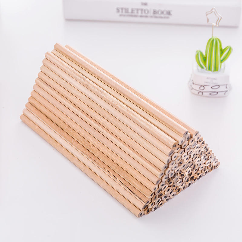 Environmental bulk cheap wholesale custom logo wooden HB standard pencils