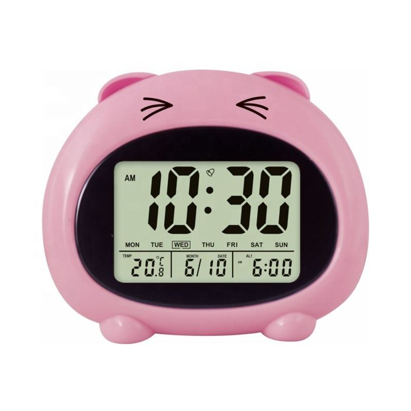 KH-CL131 Multifunctional Desktop Digital Calendar Temperature Display English Talking Animal Alarm Clock for Kids