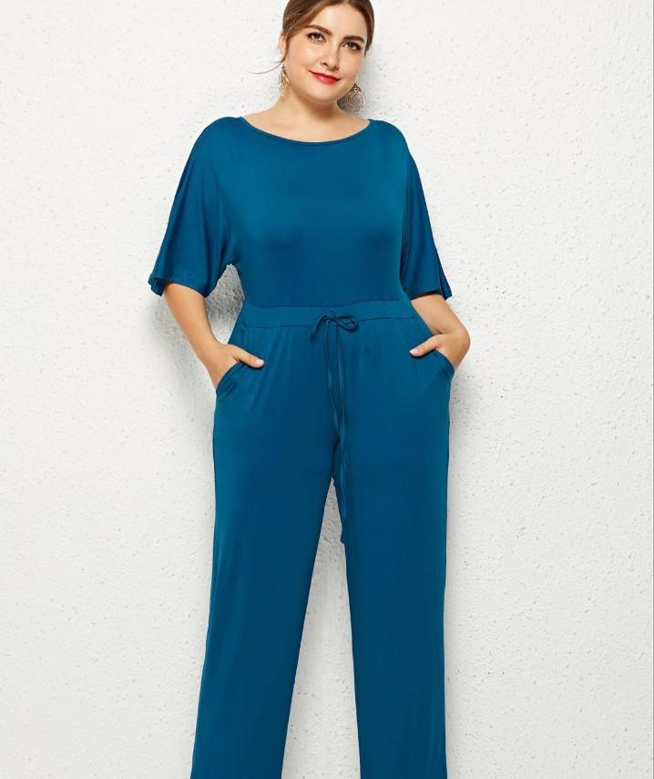 Women Big Size Clothes 3XL Women's Sexy Casual Plus Size Jumpsuits