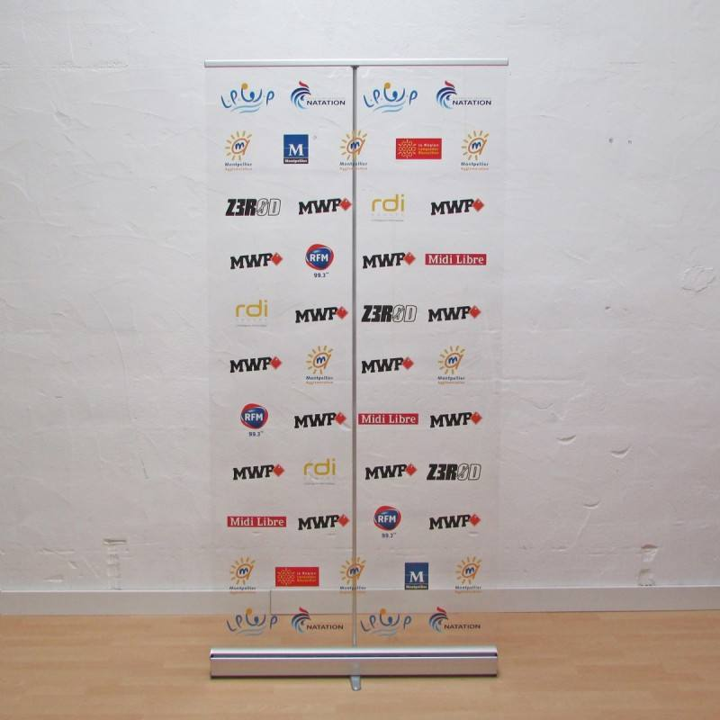 Dye Sublimation Printing [ Roll Banner ] Classic Transparent Roll Up Banner Stand Social Distance Stand