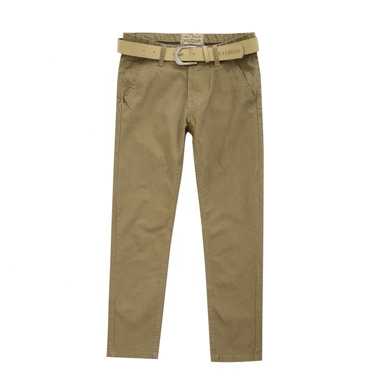 High quality custom trousers men stretch khaki men's casual pants