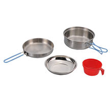 1 Person Stainless Steel Cook Set Camping Cookware Travelling Kit Cookware