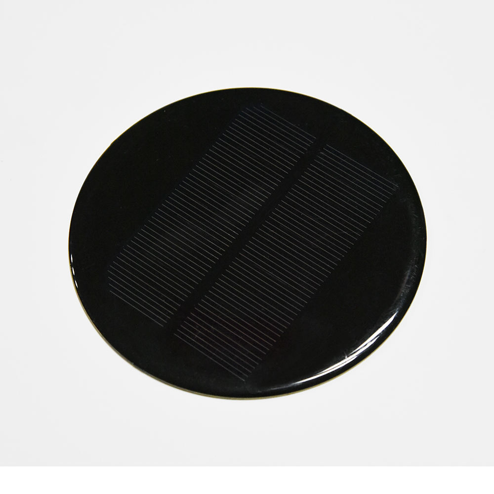 Best custom solar cell round 1w 2v 3w round solar panel for garden light