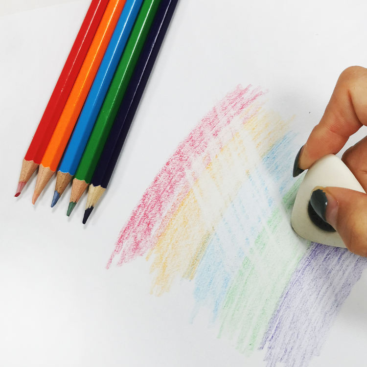 Design Widely Used Cheap Fluorescent Erasable Colour Pencils