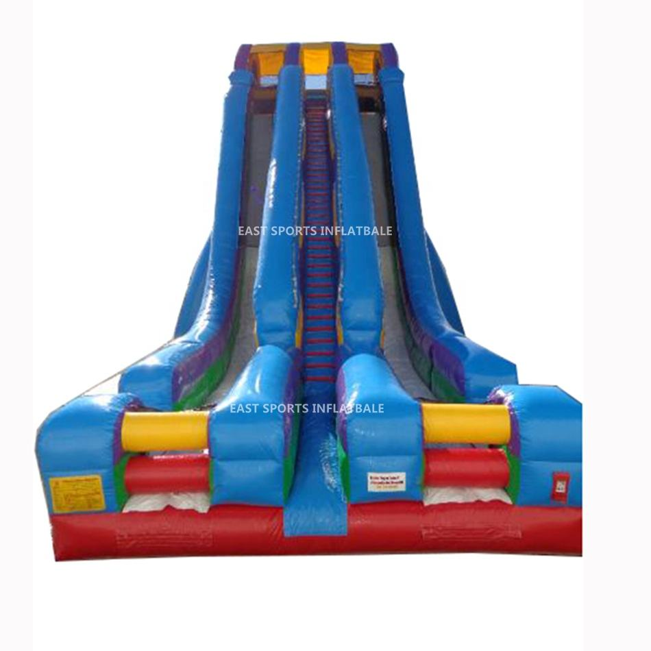 8m Hight PVC Large Used Inflatable Adult Water Slide for Sale Repair Kits for Free, Blower for Sale Custom Logo Printed 2 Years