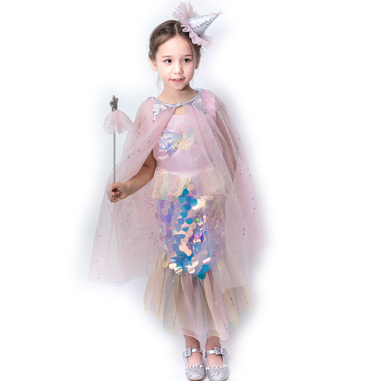 Wholesale Girl Princess Costume Tulle Cape For Kids