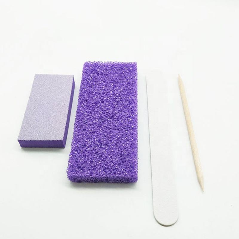 free shipping disposable pedicure kit professional nail salon tools disposable pumice kit for nail